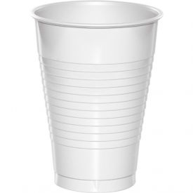White Plastic Cups 12 oz