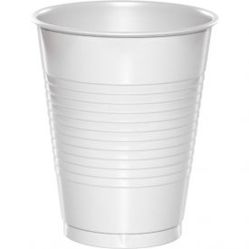 White Plastic Cups 16 oz