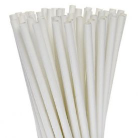 Empress Earth White Paper Straws, Individually Wrapped, 7 3/4