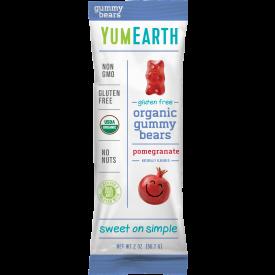 YumEarth Organic Pomegranate Gummy Bears 2oz.