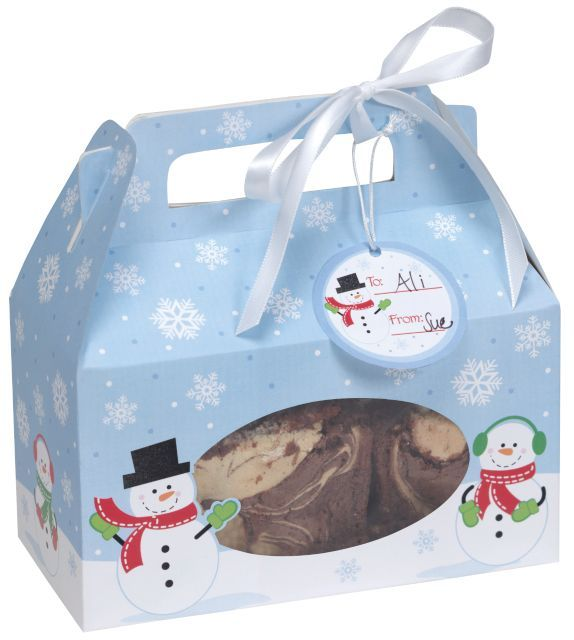 Snowman Cookie Boxes W Handle In Bulk At Warehouse115