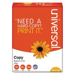 Universal® Copy Paper, 92 Brightness, 20lb, 8-1/2 x 11, White