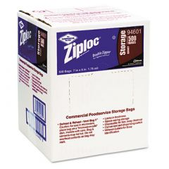 Ziploc® Double Zipper Storage Bags, 1qt, Clear, Write-On ID Panel