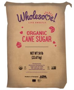 Wholesome Sweeteners Organic Cane Sugar 50lb.
